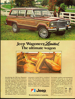 1979 Vintage ad for The new 1980 Jeep Wagoneer`Maroon Color`Wood Panel (030814)