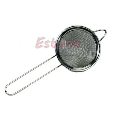 New Tea Strainer Fine Stain Less Steel Mesh Sifter Sieve Diamete Cheap & Best