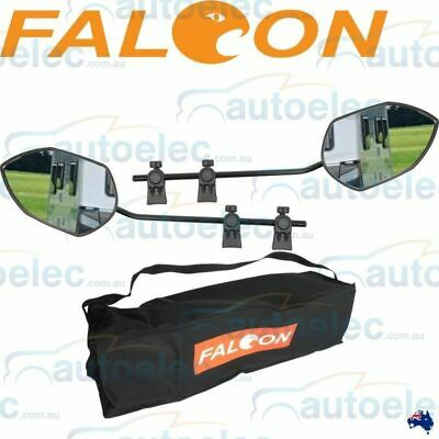 Pair Milenco Falcon Towing Mirrors Extra Wide Universal Multifit Caravan Boat 2X