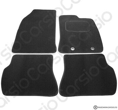 Ford Fiesta 2002 - 2008 Tailored Black Car Floor Mats Carpets 4pc Set with Clips