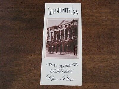 Community Inn Hershey Pennsylvania PA Vintage Brochure Map B&W Photos