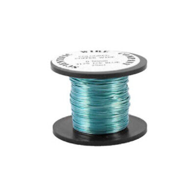 1 x Cyan Plated Copper 0.5mm x 15m Round Craft Wire Coil W5125
