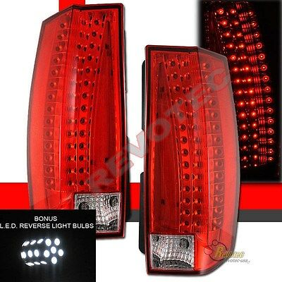 07-14 Chevy Suburban Tahoe Yukon G5-Escalade Style LED Tail Lights w LED Reverse