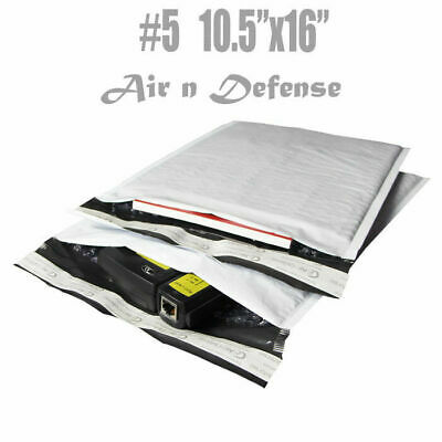 200 #5 POLY BUBBLE PADDED ENVELOPES MAILERS BAGS 10.5 x 16 SELF SEAL AirnDefense