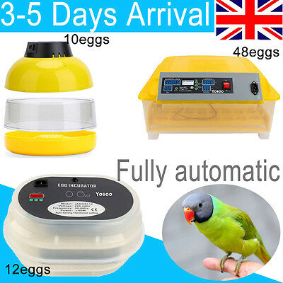 Digital Automatic Egg Incubator Chicken Duck Quail 12 60 96 Eggs Poultry Harcher