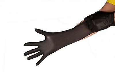 Super Strong Black Mamba Heavy Duty Nitrile Gloves