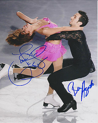 TANITH BELBIN AND BEN AGOSTO Olympic Ice Dancers Signed 8x10 Photo