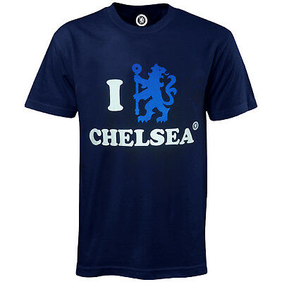 Chelsea FC Official Football Gift 'I Love Chelsea' Mens T-shirt