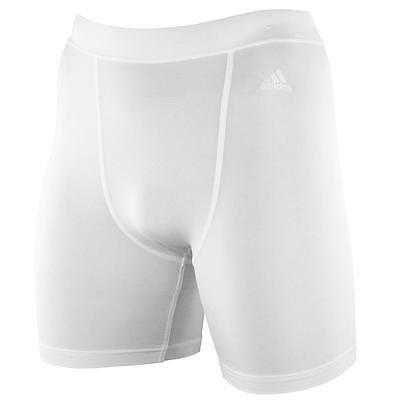 adidas Techfit Preparation Short Lauf Tight Radlerhose Climacool weiß