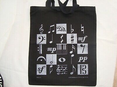 """Music Motive Bag Black Canvas with Silver 19: L x 15.5"""" W Great Gift Brand NEW"""