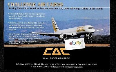 Challenge Air Cargo Miami -Latin America More Destinations Than Any Other 757 Ad