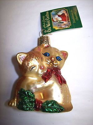 """""""Kitty Love"""" (12216) Old World Christmas Glass Ornament"""