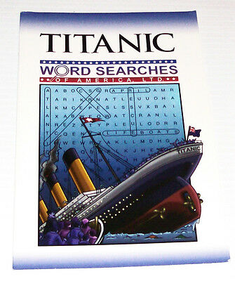 Titanic, Word Search Book, New, Interesting, Collectible