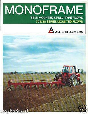 Farm Implement Brochure - Allis-Chalmers - 70 80 and Monoframe Plow c79 (F3164)