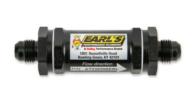 Earl's AT230208ERL Ano-Tuff Fuel Filter Screen Type - 85 micron -8AN @Speed Tech