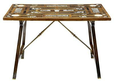 19Th Century Profusely Inlaid Rosewood Side Table