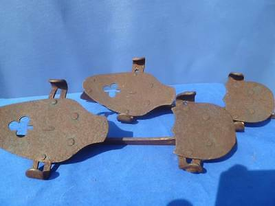 Antique Vintage Pair of Clover Clamp on Shoe Ice Skates! Steel? Iron? 1800s?