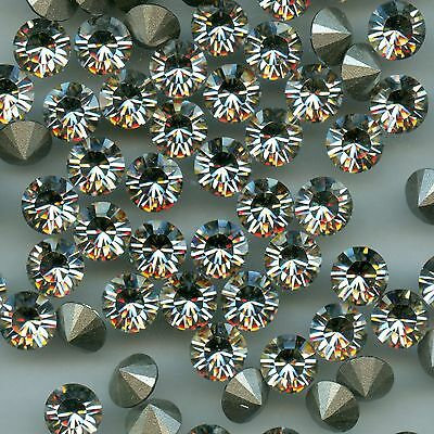 1028 SS34 SSH ***12 strass Swarovski  fond conique 7,2mm CRYSTAL SILVER SHADE F