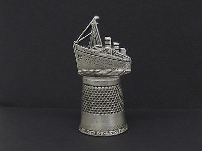 Fort Pewter Collector's Thimble Oceanic Grand Passenger Ship Open Seas Voyage