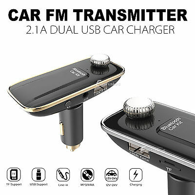 Bluetooth Car Kit MP3 FM Transmitter USB Charger For iPhone 7 6S Plus Samsung S7