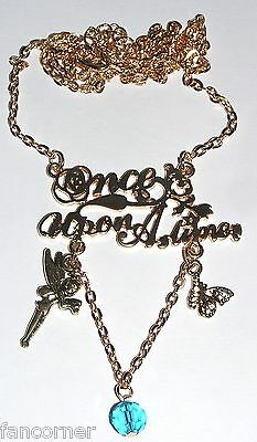 Once Upon A Time pendentif doré titre série OUAT once upon a time pendant