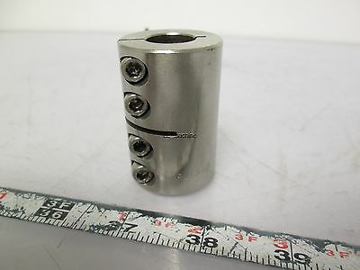 "Ruland CLX-10-8-SS Rigid Coupling One Piece Clamp Stainless Steel 1/2"" x 5/8"""