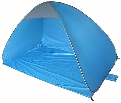 LARGE PURPLE NALU 2M x 1.2M POP UP BEACH WIND SHELTER & CARRY BAG TENT TY3690