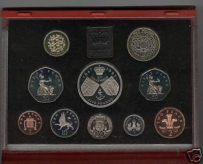 1997 Deluxe Red Proof Set Of 10 Coins