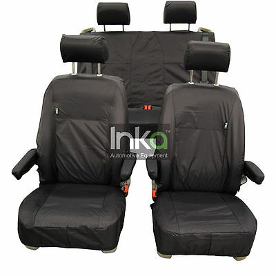 VW California T5 Front & Rear Inka Tailored Waterproof Seat Covers Black 10 - 13