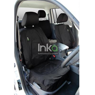 VW Amarok Front Seat Inka Fully Tailored Waterproof Covers Black