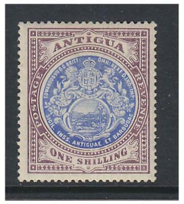 Antigua - 1908/17, 1s Blue & Dull Purple stamp - Mint - SG 49