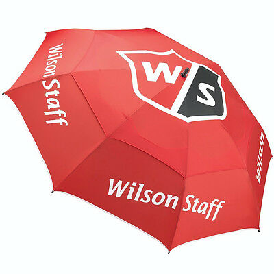 "Wilson Staff Pro Tour 68"" Double Canopy Golf Umbrella - Red"