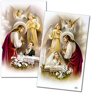 24 First Holy Communion Custom Personalized Remembrance Prayer Cards