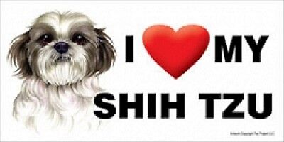 I (Heart) MY SHIH TZU Magnet LOVE  Made in USA