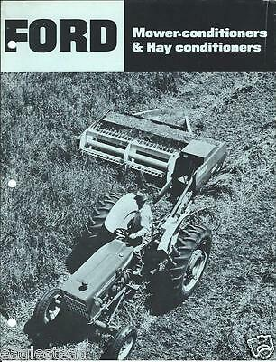 Farm Implement Brochure - Ford - 510 535 - Mower Hay Conditioner - c1970 (F3190)