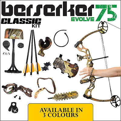 New 30-75 Lbs Apex Berserker Evolve Classic Kit Compound Bow Archery Hunting Kit