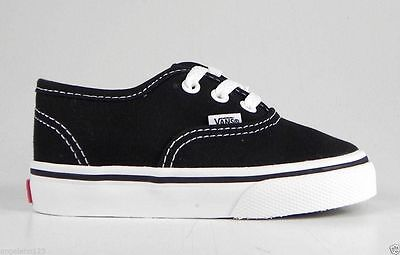 f9536f7768 VANS Authentic Shoes Black Canvas Infant Baby Boys Toddlers Casual 0ED9BLK