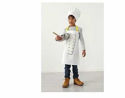 IKEA Apron with Chef's Hat Kids Boy Girl Kitchen Chef Cook Baker TOPPKLOCKA-NEW