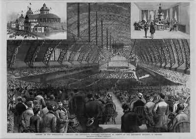 Republican National Convention Chicago Exposition Building Presidential Campaign