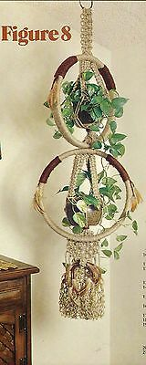 Figure 8 Double Plant Hanger Pattern - Craft Book: #GM2 Macrame with a Purpose