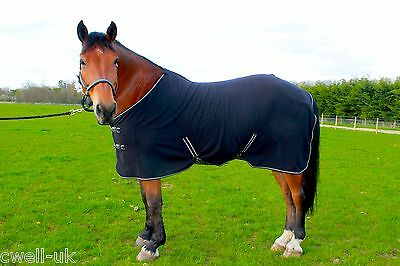 "NEW HORSE COB PONY SHOW TRAVEL FLEECE RUG 3'6-7'0"" stable cooler choice of color"