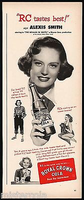Vintage magazine ad ROYAL CROWN COLA from 1949 picturing Alexis Smith n-mint