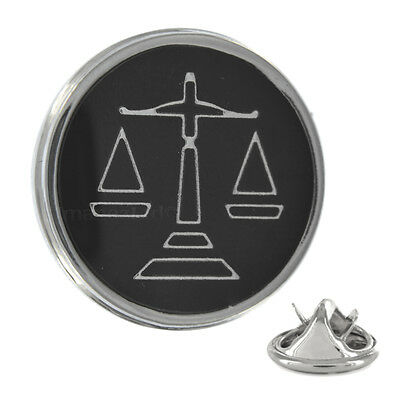 Black Scales of Justice Metal Pin Badge law lawyer barrister solicitor AJTP211