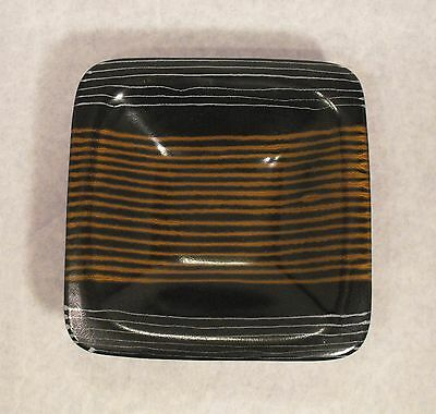 GLIDDEN POTTERY SQUARE BOWL MID-CENTURY AFRIKANS PATTERN by FONG CHOW #207