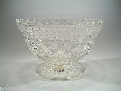 Vintage 1960's Anchor Hocking Wexford Pattern Crystal Candy Dish No Lid