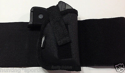 Cobra CA32 with Laser   Concealed Ankle Holster   RH   Black Nylon WANK 1LZ