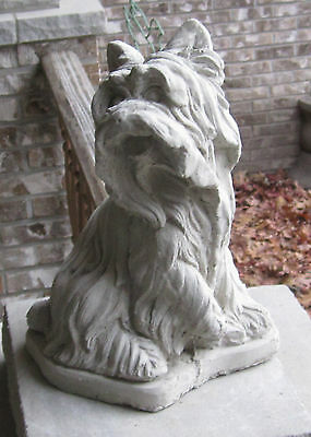 CONCRETE YORKSHIRE TERRIER STATUE OR USE AS A MONUMENT