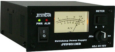 Jetstream 30 Amp Pwr Supply W/switchable Meter  Jtps31Mb