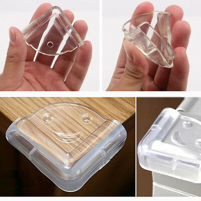 4 Rubber Clear Table Desk Corner Edge Guard Cushion Baby Safety Bumper Protector
