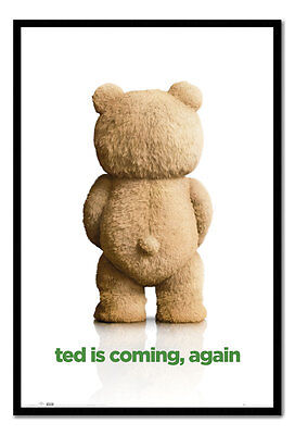 Framed Ted 2 Ted Is Coming Again Film Movie Poster New